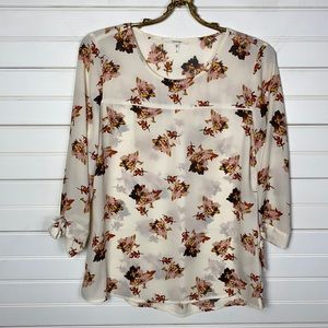 Maurices Sheer Floral Blouse Size Small